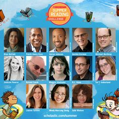 What do these 13 authors have in common? They've each written a new original short story for the 2015 Scholastic Summer Reading Challenge! Sign your child up and they'll unlock a new story each week, in addition to other awesome content, like free book lists, videos, games, and sweepstakes! #summerreading