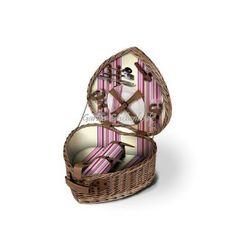 Picknickkorb in Herzform