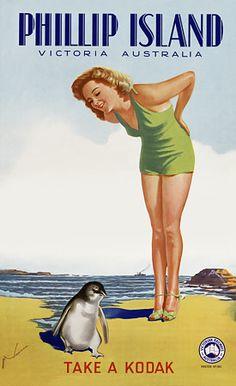 Phillip Island * Victoria, Australia #tourism #poster #Kodak (1930s)