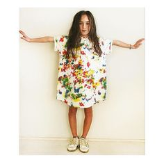 We are totally obsessed with this paint splat dress by #bandybutton from @momekids . . For more art inspired styles in keeping with this seasons trend check out our art #fabfinds - link in bio