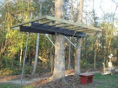 Step by step pics how to build a tree house