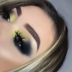 Eyes: anastasiabeverlyhills Prism palette #makeup #eyeshadow #abh | green smokey eye | green inner corner | smokey eye makeup | makeup inspo #greeneyeshadows #greeneyemakeup