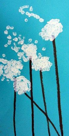 dandelion fingerpaint