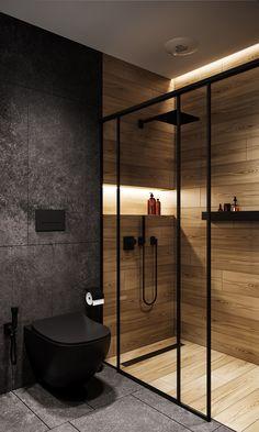 Washroom Design, Bathroom Design Luxury, Toilet Design, Modern Bathroom Design, Modern House Design, Home Interior Design, Bathroom Design Inspiration, Behance, Mobile Homes