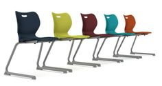 SmartLink Cantilever Student Chairs perfect for school environments! Learn more at our office furniture solutions including chairs, desks, workstations, filing and tables on hon.com #office #interiordesign #school by tami