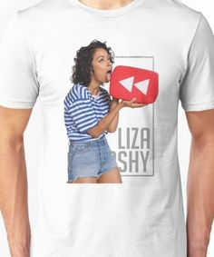 is an American actress and YouTuber Unisex T-Shirt Santa Canvas, Red Haired Actresses, Canvas Crafts, American Actress, Unisex, T Shirts For Women, Youtube, Mens Tops, Fashion