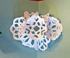 Seven Snowflake Pop Up Card - PAPER CRAFTS, SCRAPBOOKING & ATCs (ARTIST TRADING CARDS)