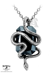 Alchemy Gothic Eve Serpent Snake Crystal Pendant Necklace Pewter for sale online Crystal Pendant, Crystal Necklace, Pendant Necklace, Onyx Necklace, Snake Necklace, Necklace Box, Fantasy Jewelry, Gothic Jewelry, Style Ancien