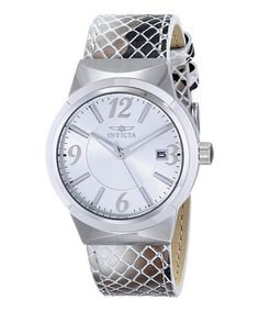 This Silver Angel Quartz Three-Hand Watch - Women is perfect! #zulilyfinds