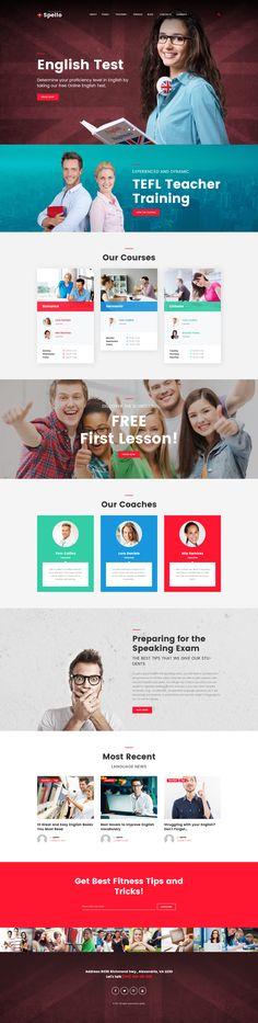 Language School WordPress Theme #education #template