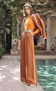 Zimmermann Best trends from the resort 2020 collections vogue tumeric and terracotta # Fashion design Fashion Week trends report: Resort 2020 - Mode Rsvp Trend Fashion, 2020 Fashion Trends, Vogue Fashion, Fashion 2020, New Fashion, Crazy Runway Fashion, Fashion Pants, Korean Fashion, High Fashion Outfits