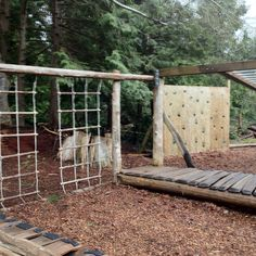 My daughter's Waldorf school playground (more for the big kids but they all use it) in Roberts Creek, BC.