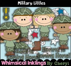 Military Littles Clip Art, BONUS Lineart, Digital Stamps, Black and White, Line Art, Instant Download, Service, Occupation, USA, Patiotic by ResellerClipArt on Etsy