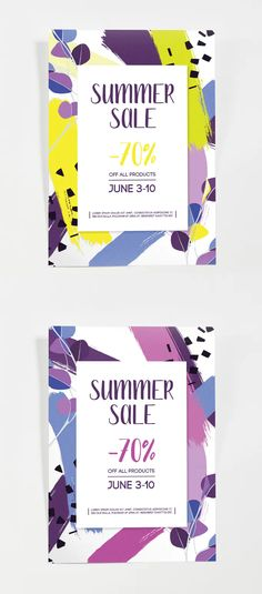 Summer Sale Poster Template AI, PSD Poster Templates, Sale Poster, Summer Sale