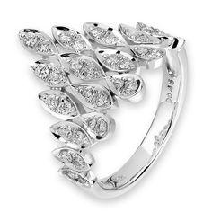 Diamantring Scheherazade aus Weißgold 750 mit 0,46 ct, Diamanten