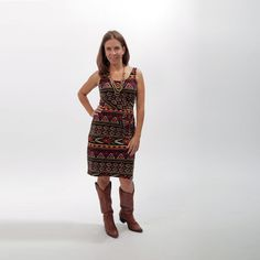 Jersey Knit Tank Dress with Pockets Made in by MelissaBellClothing