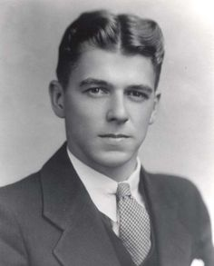 Formal photograph of Ronald Reagan ..moved to Hollywood in 1937 where he began a…