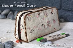 DIY Gifts To Sew For Friends - Wide Open Zipper Pencil Case - Quick and Easy Sewing Projects and Free Patterns for Best Gift Ideas and Presents - Creative Step by Step Tutorials for Beginners - Cute Home Decor, Accessories, Kitchen Crafts and DIY Fashion Ideas http://diyjoy.com/diy-gifts-to-sew-for-friends
