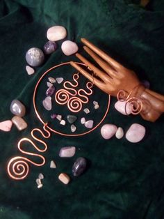 set of 3 pieces spiral copper jewelry by LughAislingCelticArt