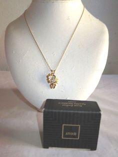 Details about VINTAGE AVON 17 14K GOLD FILLED GENUINE DIAMOND