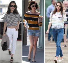 Celebrity Street Style of the Week: Olivia Munn, Lucy Hale, & Alessandra Ambrosio. Olivia Munn, Lucy Hale, & Alessandra Ambrosio show you three ways to rock stripes this summer season.