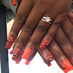 Cincinnati Bengals Nails WHO DEY!
