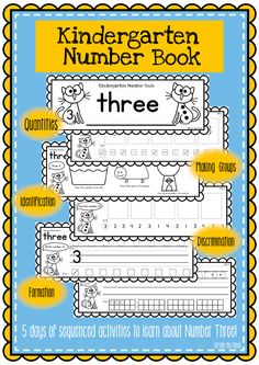 Kindergarten Number Book - FREE ....Follow for free 'too-neat-not-to-keep' literacy tools  other fun teaching stuff :)