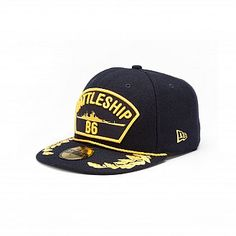 Battleship Crew Series 59FIFTY  	This 59FIFTY® Fitted cap is made with Battleship™ movie inspiration and features an embroidered (raised) namesake and logo at front. A stitched New Era® flag at wearer's left side and a stitched emblem at back. Stitched filigree at visor with rope detail at front of crown. Interior includes branded taping and a moisture absorbing sweatband.  PRE-ORDER  At this time, the following item(s) are only available on Pre-Order. Time to ship will be at