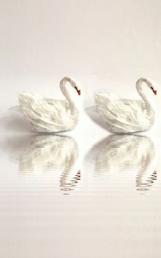 Miniature Paper Swans by Cora Pearl Design