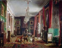 Crests and Coronets — Charles Giraud - Interior of the Office of Alfred...