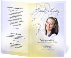 Catholic Funeral Programs Beads Single Fold Program Templates Brochure Template
