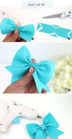 new ideas baby diy sewing homemade gifts children Ribbon Crafts, Felt Crafts, Ribbon Bow Diy, Diy Bebe, Felt Bows, Diy Couture, Diy Hair Bows, Ribbon Hair Bows, Hair Bows For Girls