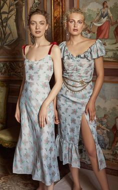 In Stock: Shylock Blue Floral Corset Dress — Markarian Daily Fashion, High Fashion, Luxury Fashion, Womens Fashion, Gothic Fashion, Red Patent Leather Pumps, Jeanne Lanvin, Malva, The Dress