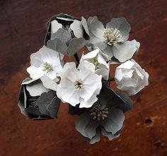 Combat paper flowers