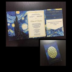 Art lover? Have this invitation by Global Invitaions inspired by Van Gogh's Starry Night. #Beforeidobridalfair, #beforeidobridalfairexhibitor #bridalfair #weddingfair #weddingexpo #wedding #debut #weddingprenup #weddingpreparation #partyplanning #eventplanning #weddinginvitations, #invitations, #philippineweddings, #weddings, #globalinvitations, #starrynightinvite #vangogh