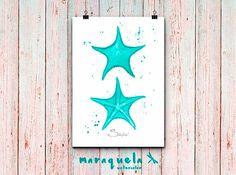DISCOUNT SET Seashell Crab Alga and Starfish by Maraquela