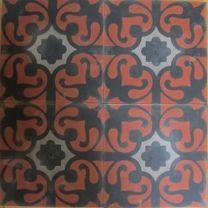 Red Exotic Floral Moroccan Design, Moroccan Tiles, Mosaic Tiles, Cement Tiles, Encaustic Tile, Handmade Tiles, Style Tile, Moorish, Commercial Interiors