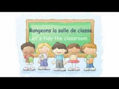 French tidy up song - Rangeons la salle de classe (+playlist) French Teacher, Teaching French, French Classroom, Primary Classroom, Clean Up Song, French Poems, Kindergarten Songs, French Kids, Core French