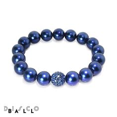 Disco Ball Montana Blue Pearl Bracelet