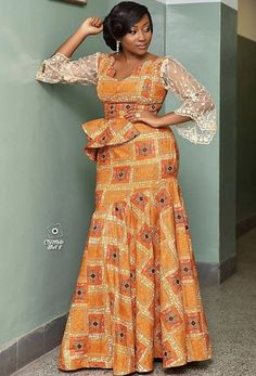 Latest ankara long gown styles 25 most fashionable Ankara long gown styles you should try. Ankara Long Gown Styles, African Dresses For Kids, African Maxi Dresses, African Fashion Ankara, African Inspired Fashion, Latest African Fashion Dresses, African Print Fashion, African Attire, Modern African Fashion