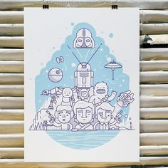 What's on press... The final day of @creativesouthga is today so here's our last Star Wars design that we printed for the pop-up art gallery called A Gallery Far Far Away. This 3/0 screen print was designed by @vic_bell and printed on @frenchpaperco Pure White.  Check out our bio link for more pics and to learn more about the print process and client.  #screenprint #starwars #agalleryfarfaraway #creativesouth by mamassauce