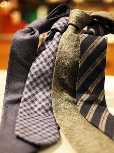 These ties are examples of great textures.  They can be worn as business professional or business casual.  WIth a pair of khaki pants and a botton down shirt - pair up a tie with a casual outfit and you will still look sharp and professional.