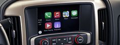 The 2016 GMC Sierra 1500 Denali Light-Duty Pickup Truck features Apple CarPlay, which syncs your phone to the truck's IntelliLink system.