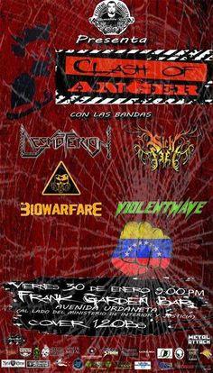 """Cresta Metálica Producciones » Frank Garden Bar presenta: """"Clash Of Anger"""" (Caracas) // 30 Enero 2015"""