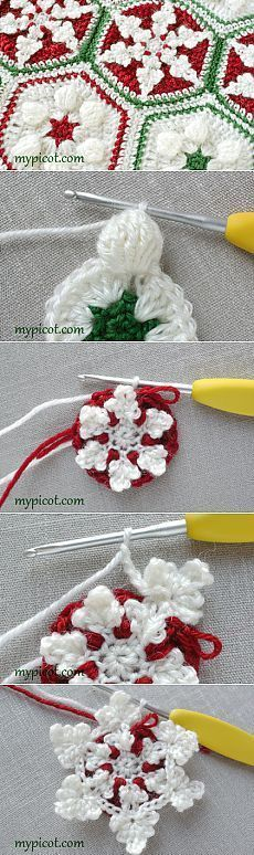Snowflake afghan: MyPicot | Free crochet patterns