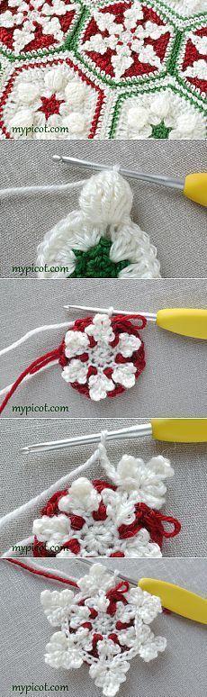 Snowflake afghan: MyPicot | Free crochet patterns