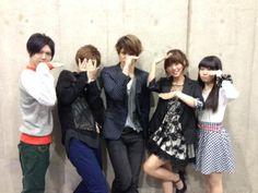 Nobunaga the fool voice actors (Mamoru Miyano, Youko Hikasa, Yuuki Kaji and more). Photo by Youko Hikasa weblog.