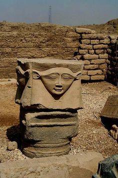 Column capitol of Hathor, Dendera. Egypt