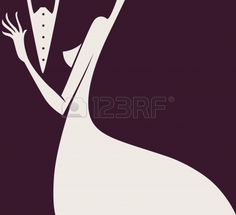lady and gentlemen  Stock Vector