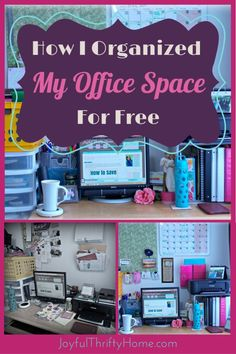 Find out how to get an organized office space without spending any money. - Joyful Thrifty Home